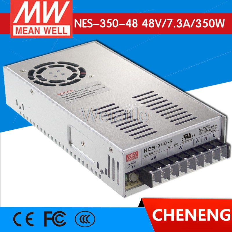 MEAN WELL original NES-350-48 48V 7.3A meanwell NES-350 48V 350.4W Single Output Switching Power Supply [cb]mean well original nes 350 3 3 2pcs 3 3v 60a meanwell nes 350 3 3v 198w single output switching power supply