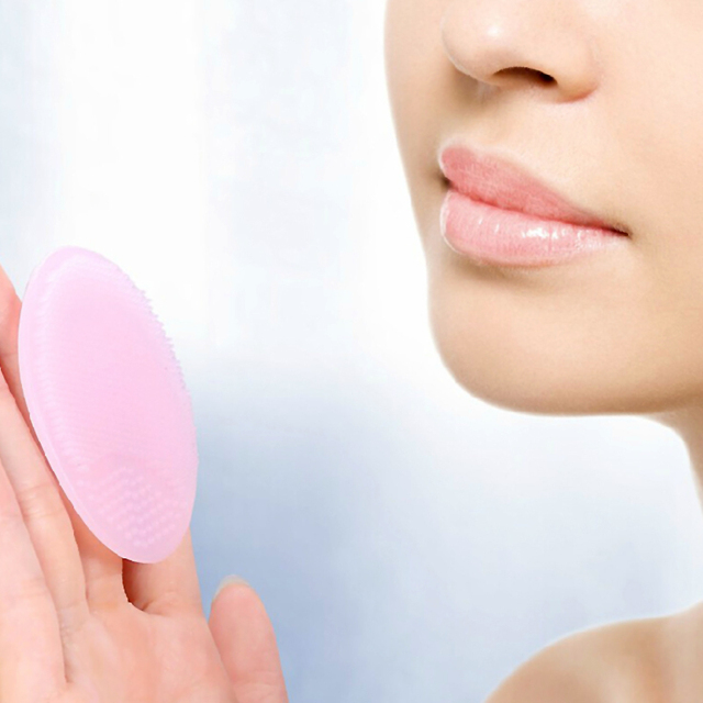 Cleaning Pad Wash Face Facial Exfoliating Brush SPA Skin Scrub Cleanser Tool Face Massager 2