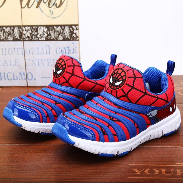 2017 New Fashion Kids Sports Shoes 7 Colors Boys Spiderman Sneakers