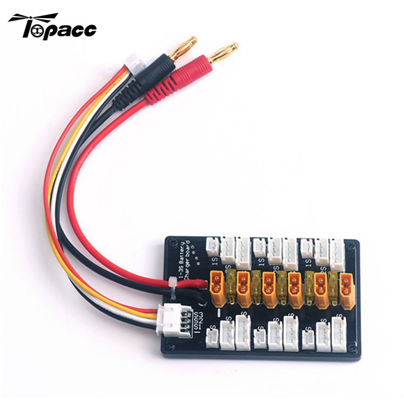 Free Shipping XT30 1S-3S Plug Parallel Charging Board For IMAX B6 Balance Charger Spare Part Accessories for RC Model Multirotor original aosenma cg035 rc quadcopter spare part gps receiver board for rc models toys multirotor transmission accs