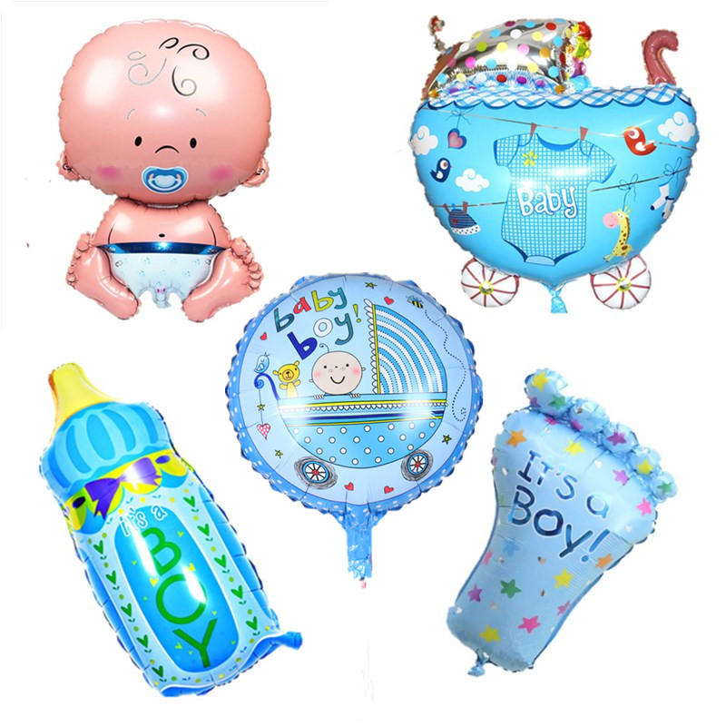 Helium Balloons Baby Shower: Baby Shower Party Decoration Aluminum Foil Balloons Baby
