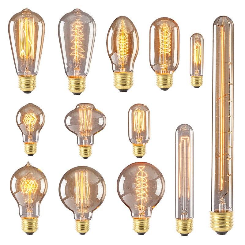цена на Artpad AC220V Edison Bulb E27 Filament Light Bulb High Brightness Retro Vintage Edison Bulb for Pendant Light Desk Lamp 40W