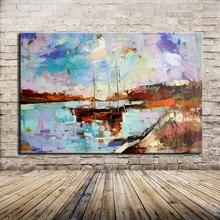 Ручная роспись, Современная Абстрактная живопись маслом на холсте, настенная художественная картина для гостиной, украшение дома, без рамки