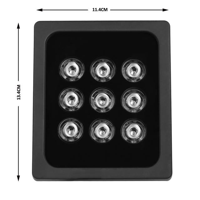 AZISHN CCTV 9pcs Array LEDS  IR illuminator infrared  IR Light Outdoor CCTV Fill Light Night Vision for CCTV Surveillance Camera