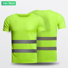 Construction Reflective Clothing T-shirt High Visibility Reflective