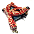 Free Shipping Pro Heavy Tattoo Machine Afterlife Customs Irons (Gun) Red Crackle Tattoo Gun liner shader