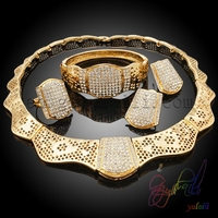 18 Karat Brazilian Gold Jewelry Sets Designer Kundan Necklace Set Indian Style Jewellery Set