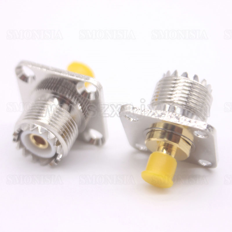 20 Pcs Adapter SO239 UHF Female Jack To SMA Female RF Connector Straight Gold Plating Nickel Plating PTFE 10 pcs rf adapter uhf female to uhf female straight