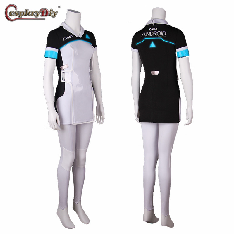 Game Detroit: Become Human KARA Cosplay Costume Code AX400 Agent Outfit For Women Girls Fancy Dress Halloween Carnival Uniforms