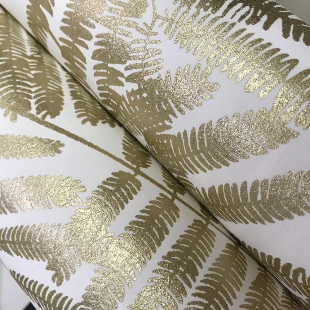 Metallic Gold Wallpaper Modern Metallic Gold White Leaf Paper Wallpaper For Wall Roll American Wall Paper Bedroom Living Room Background Home Decor