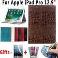 プレミアムワニ ipad のプロ 12.9 2017 革スマートカバー apple の iPad プロ 12.9 2015 ケース Coque capa の Funda