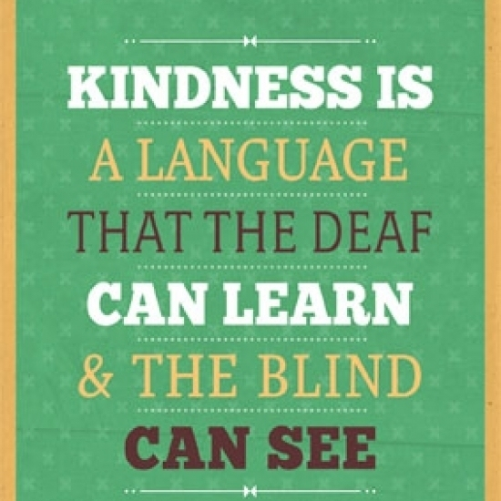 Kindness Is Laminated Poster Print (24 x 36)