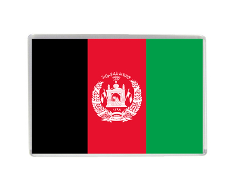 Afghanistan Flag Quality Acrylic Fridge Magnets Exquisite World Tourism Souvenirs Refrigerator Magnetic Stickers Collection