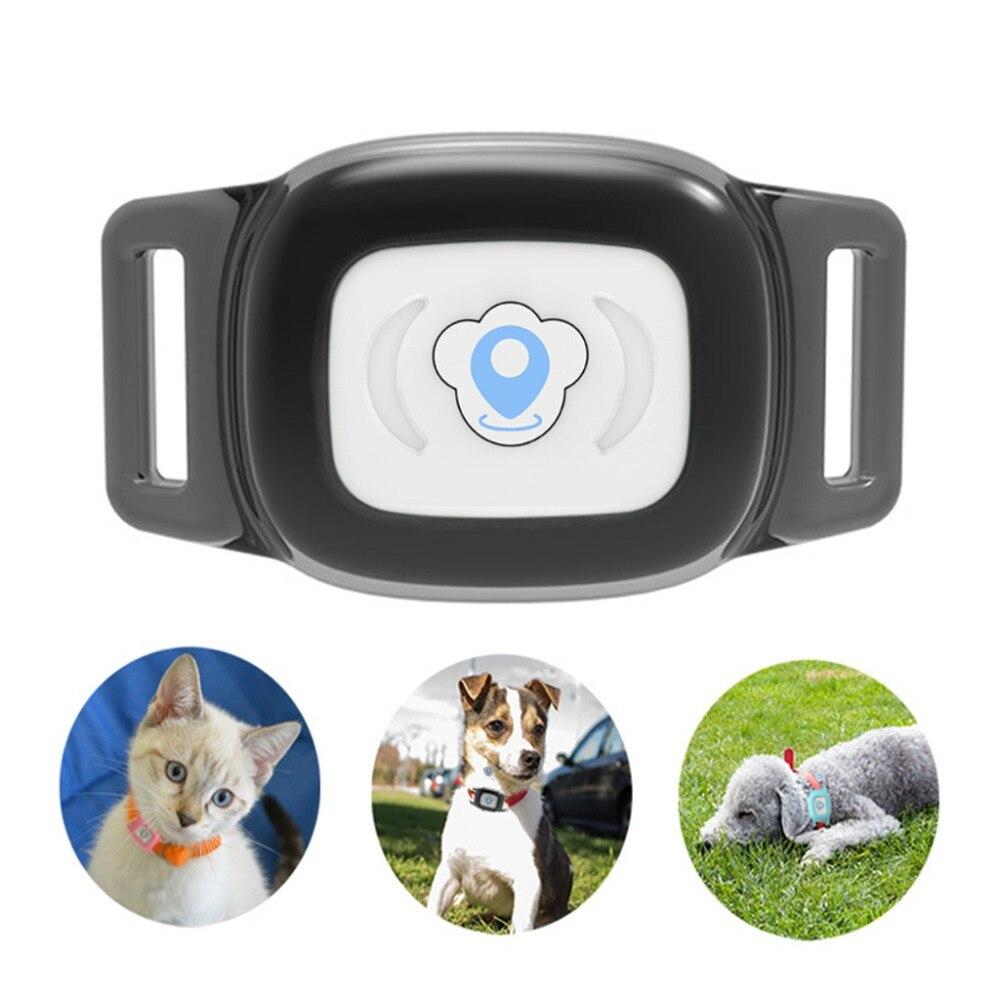 Alician Mini Pet Dog Cat Waterproof GPS Locator Tracker Tracking Anti-Lost Device Black