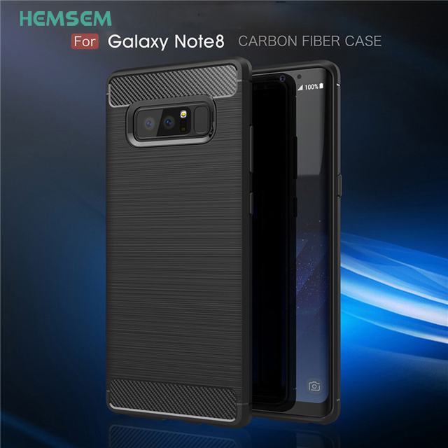 sports shoes 5203e f959a US $3.13 15% OFF|For SAMSUNG Galaxy Note 8 Luxury Carbon Fiber Business  fashion Phone Case Top TPU Drawing High Protective for Note8 Spigenes -in  ...