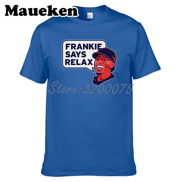 Men T-shirt Francisco Lindor 12 Frankie Says Relax Clothes T Shirt Men s  for Cleveland fans gift o-neck tee W17082510 5812d22d7