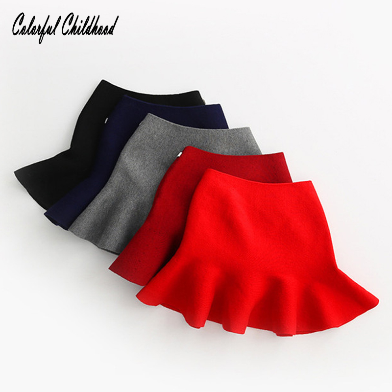 Adorable Baby Girls Skirt Kids Ruffles Tutu Skirts For Children Pettiskirt Cozy Knited Party Wedding Clothes Xmas Gift