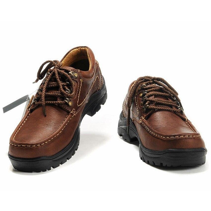 Homens de Couro Sapatos ao ar Tênis para Homem Genuíno Livre Esporte Viagem Caminhadas Caça Sapatos Marca Trekking Tênis Campismo