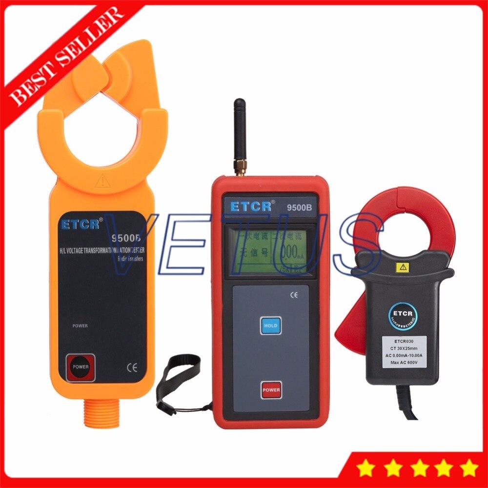ETCR9000B Тесты беспроводной передачи данных цифровой амперметр с высокой/низкая Напряжение AC Ток утечки клещи