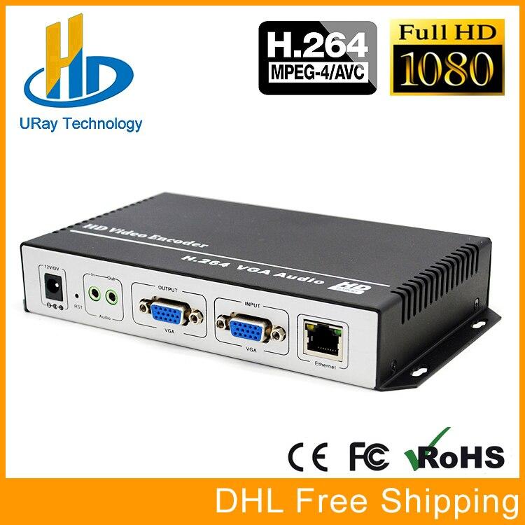 URay H.264 VGA + Stereo Audio To IP Stream Encoder IPTV Live Streaming Encoder Support HTTP, RTSP, RTMP, UDP, ONVIF uray 3g 4g lte hd 3g sdi to ip streaming encoder h 265 h 264 rtmp rtsp udp hls 1080p encoder h265 h264 support fdd tdd for live