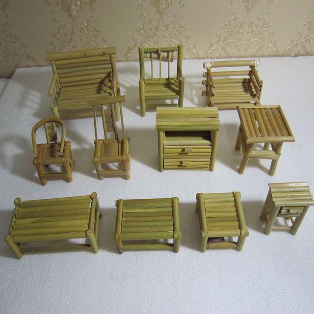 casa de muecas de mini accesorios modelo muebles antiguos silla de escritorio lindos creativos