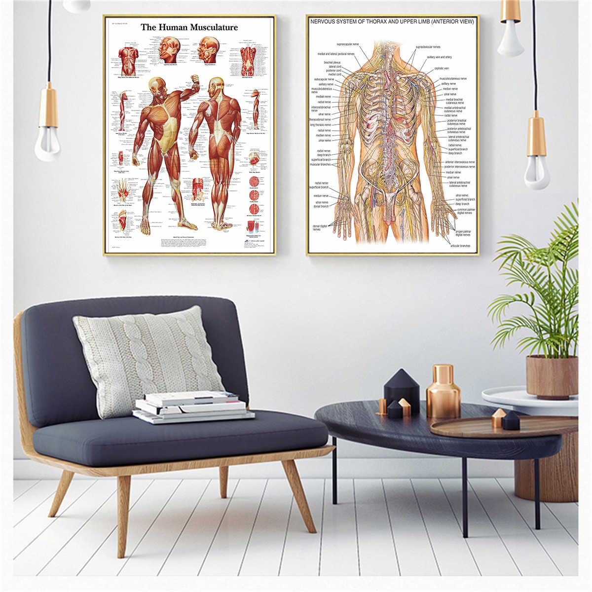 Decoracion Vintage Salon Skeletal Anatomy Skull Vintage Poster Canvas Painting Cuadros Decoracion Salon Poster And Prints Wall Art Pictures