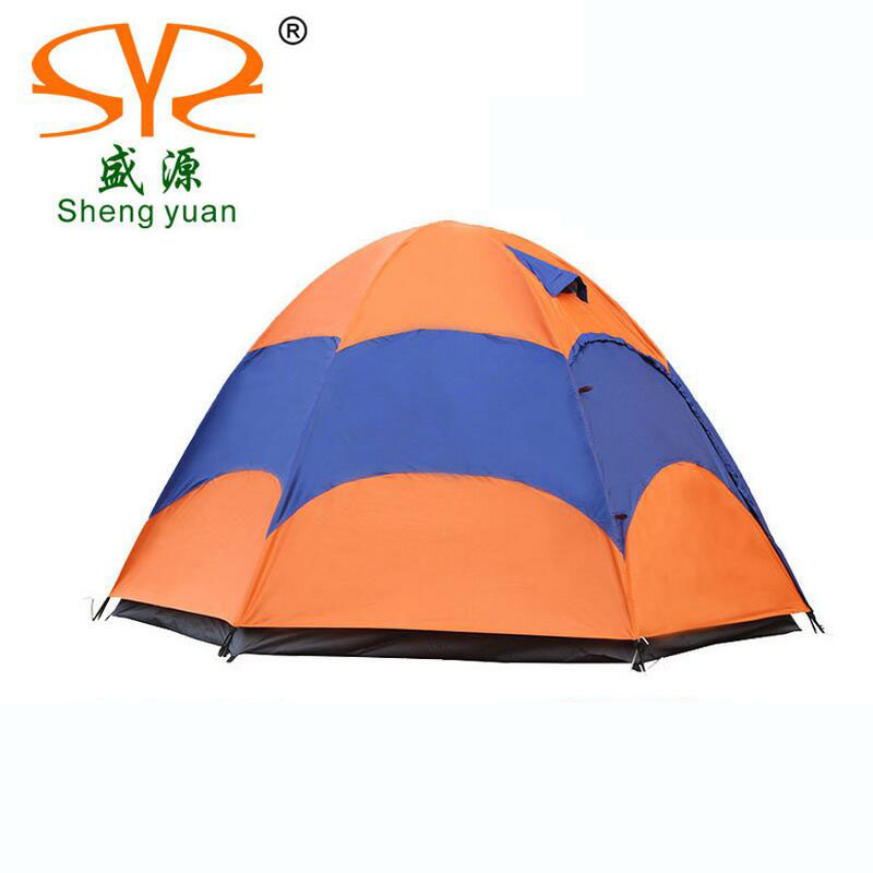 ФОТО Large camping tent 4-5 person gazebo Double layer waterproof Tourist tent outdoor awning tents camping family picnic Party tents