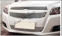 Quality Stainless steel Car front bumper Mesh Grille Around Trim Racing Grills case for Chevrolet Malibu 2012 2014