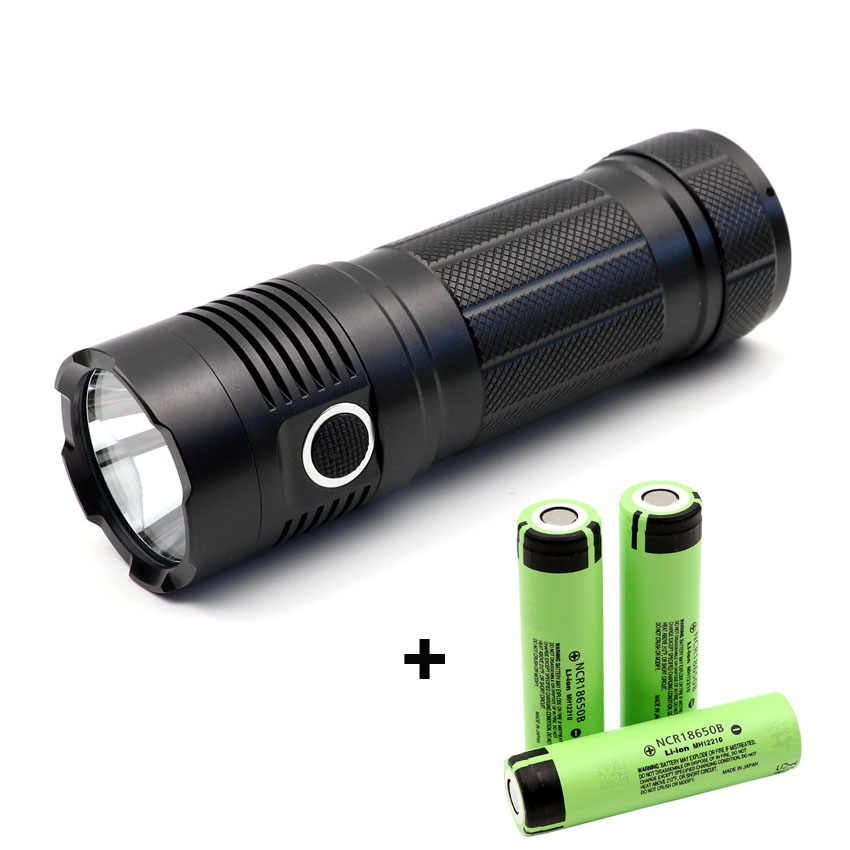 Powerful  XHP70.2 XHP50.2 LED USB C Charging flashlight Waterproof Rechargeable power bank torch with 3 x 18650 Li-ion battery