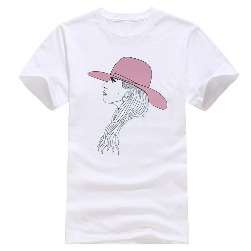 Lady Gaga Profile Sketch Mens White Long Sleeved Shirt New OFFICIALERAdult discout hot new fashion top free shipping world 2018