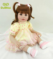 24/60 cm Yellow Silicone Dolls Reborn Baby Alive Fake Baby Doll Best Toys for Children Girls bebe gift reborn menina