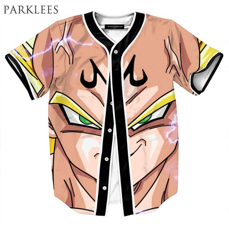 Anime 3D T Shirt Men Dragon Ball Z Goku Mens Fashion Baseball Jersey Short Sleeve Hip Hop Sportswear Tee Shirt Homme Tops Man