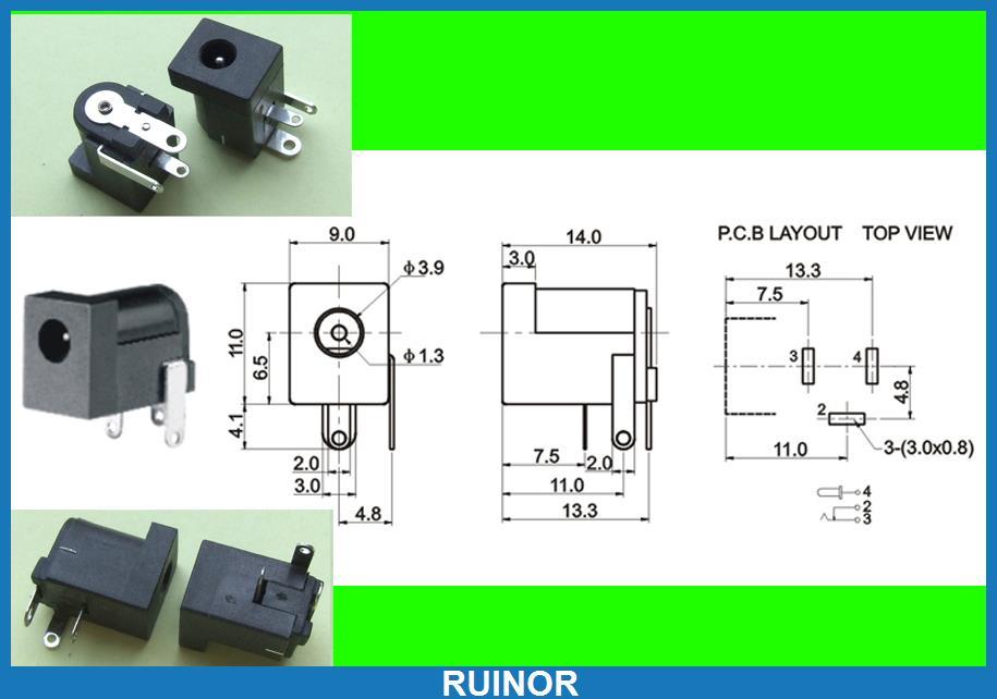 high quality whole mm er from mm er 300pcs dc female 3 5mm x 1 3mm socket jack charger power plug pcb ering