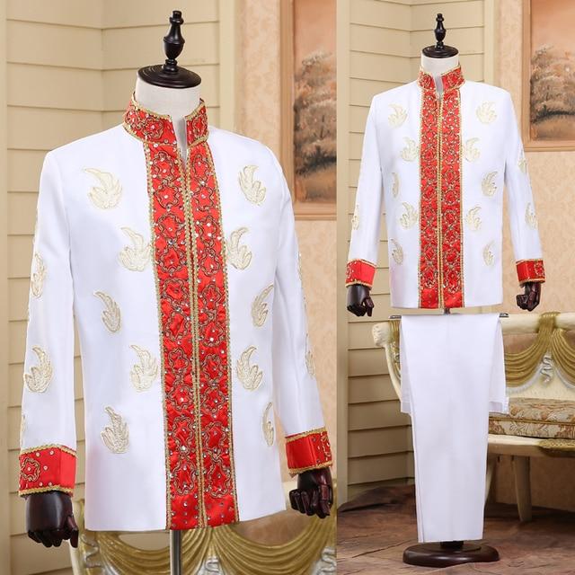 2016 (jacket+pant)Exotic costume Studio Photos India men's costume men adult stage ethnic suit for singer dancer star nightclub