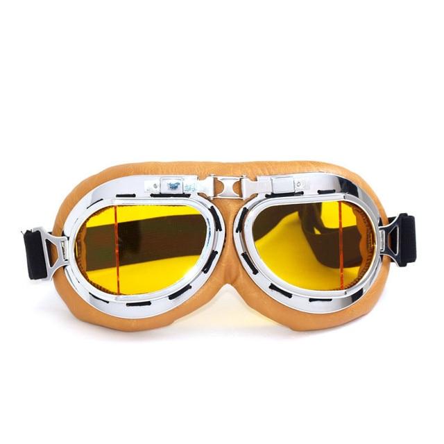 6f5beb761c Nueva llegada VCOROS Vidrio Gafas De casco de Moto A Prueba de Viento gafas  de Moto