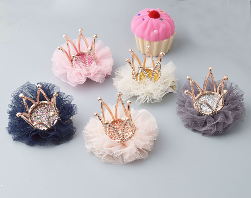 YYXUAN Girls Crown Hair Clips Hairpins Children Hair Accessories Party Favor Princess Hairpin 1piece retail kids girl styling tools crown hair clips princess hairpins bow headbands for party accessories
