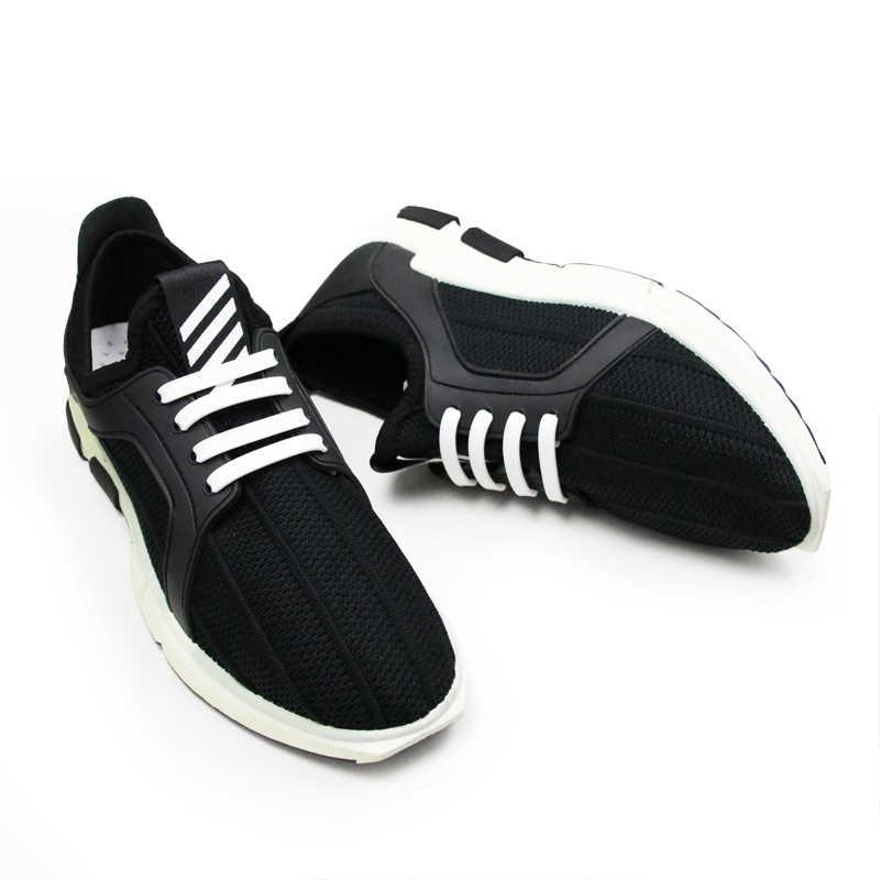 Moda hiçbir kravat ayakabı koşu tembel danteller elastik ve su geçirmez silikon tüm Sneakers 8 renk isteğe bağlı hediye olarak