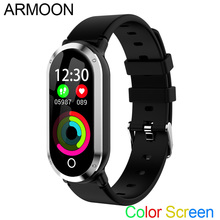 Pulseira inteligente T1 Sono Monitor de Freqüência Cardíaca de Fitness Banda de Fitness Rastreador IOS Android Relógio da Pressão Arterial Tela Colorida Banda Esporte