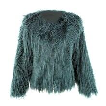 Floating Hair Jacket Coat Women Lady Fur Overcoat Imitation Fur Faux Fox Jackets Hairy Party Fur Warm Coat Plus Size XXXL