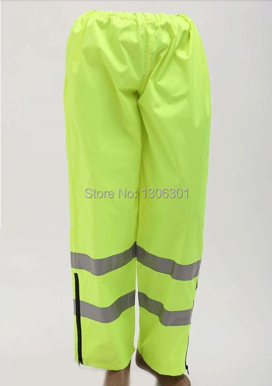 Reflective rain pants , traffic road sanitation warning rain trousers