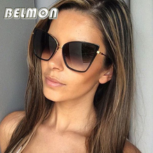 2016 Fashion Cat Eye Sunglasses Women Luxury Brand Designer Vintage Sun Glasses Ladies UV400 Mirror Lens For Female Oculos RS213