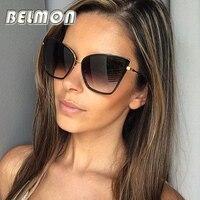 2016 Fashion Cat Eye Sunglasses Women Luxury Brand Designer Vintage Sun Glasses Ladies UV400 Mirror Lens