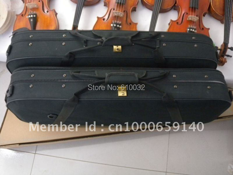one  4/4 New Violin case waterproof Fine shape #101 handmade new solid maple wood brown acoustic violin violino 4 4 electric violin case bow included