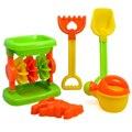 5 Unidades de la Playa de Arena Conjunto de Juguete con Bolsa De Malla para Los Niños-Color Al Azar