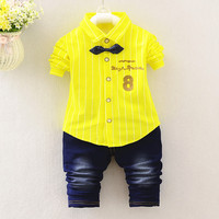 Baby Boy Clothing Set Baby Boys 2PCS Autumn Set Striped Shirts Jeans Infant Clothing Set Kids