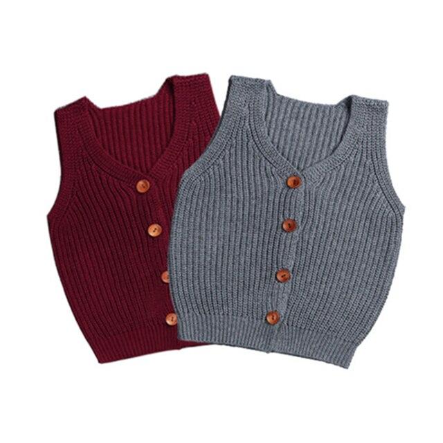 946268eae Baby Jackets Clothing Toddler Boys Vest Cardigan Girls Knitting Vest ...