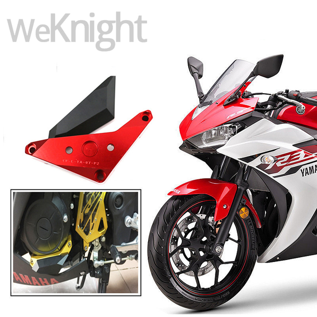 5 colors Motorcycle Accessories CNC Engine Cover Left Crash Pads Frame Protector Sliders for YAMAHA YZF-R3 YZF R3 2015 2016