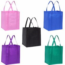 Cheap Wholesale 5pcs/lot Reusable Grocery Tote Shopping Bags(China)