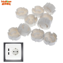 EU Power Socket Electrical Outlet Baby Kids Child Safety Guard Protection Anti Electric Shock Plugs Protector Rotate Cover 10pcs