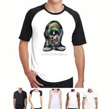 ff7cb4b92378 Men Funny T Shirt Women Cool tshirt Men s Marvin The Martian T-Shirt(China